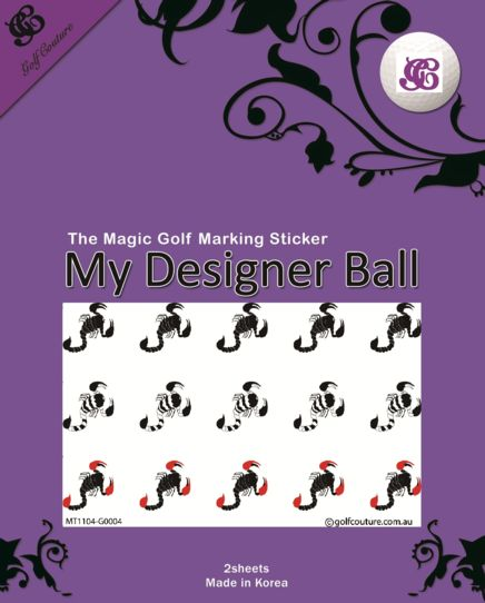 Golf Ball Sticker / Stamp - Scorpion