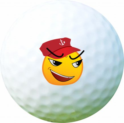 Golf Ball Sticker / Stamp - Marine Man