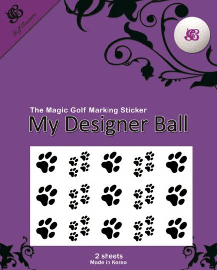Golf Ball Sticker / Stamp - Paws
