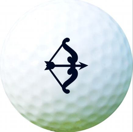 Golf Ball Sticker / Stamp - Bow and Arrow