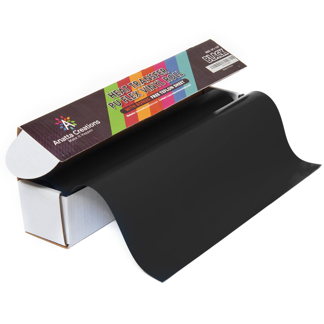 Heat Transfer Vinyl Roll BLACK:  10
