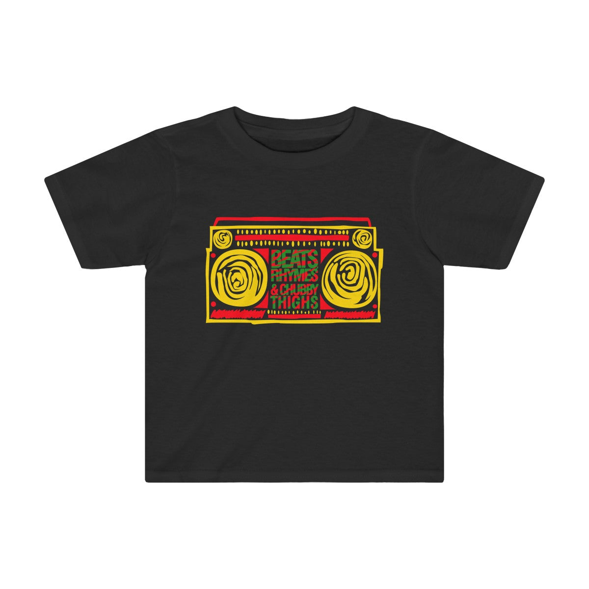 Beats, Rhymes, & Chubby Thighs Toddler Tee
