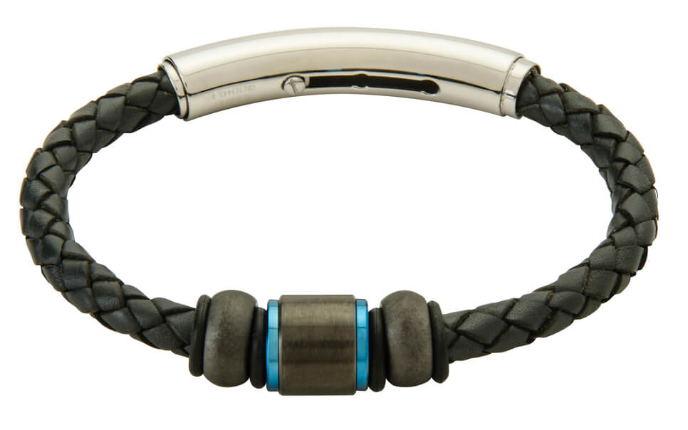 COB19-CAR leather and carbon fiber adjustable bracelet