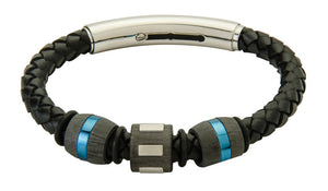 COB20-CAR leather and carbon fiber adjustable bracelet