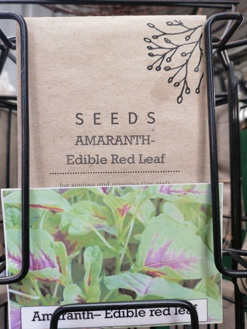 Amaranth - Edible red leaf seed packet