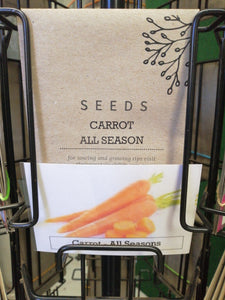 Carrot - All season seed packet