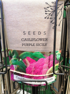 Cauliflower - purple sicily seed packet