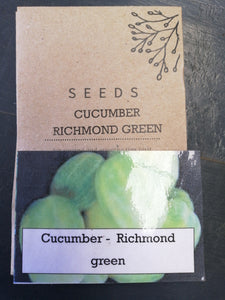 Cucumber - Richmond Green (apple) seed packet