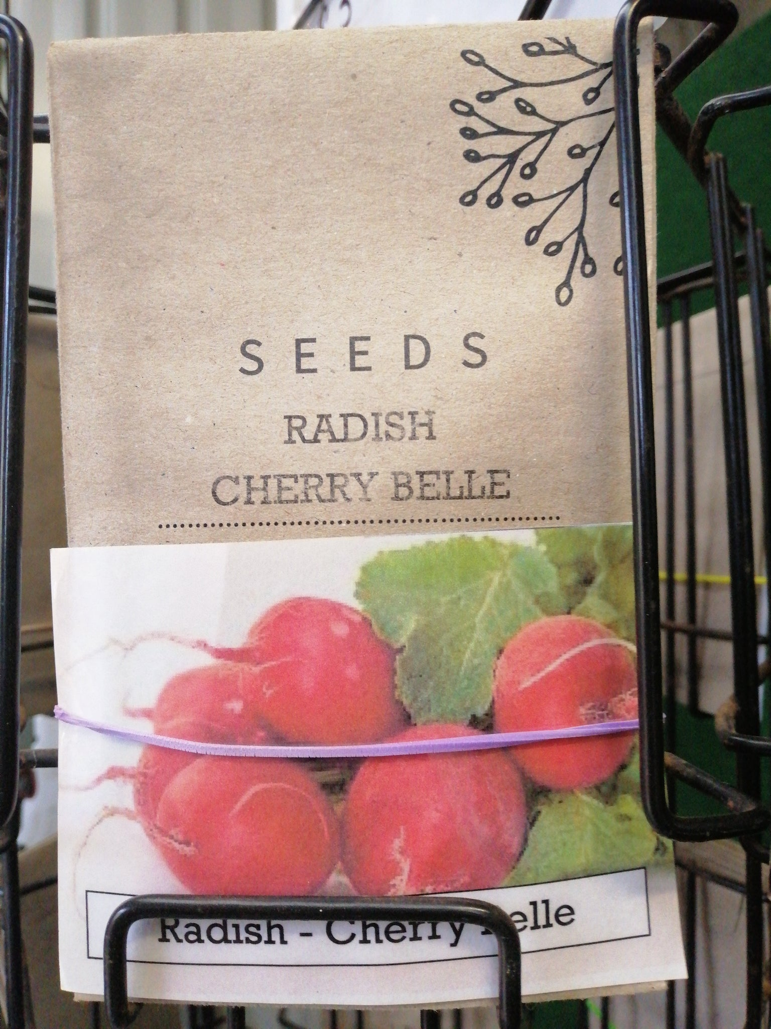 Radish - cherry belle seed packet