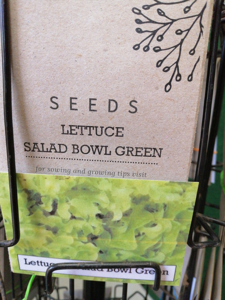 Lettuce - salad bowl green seed packet
