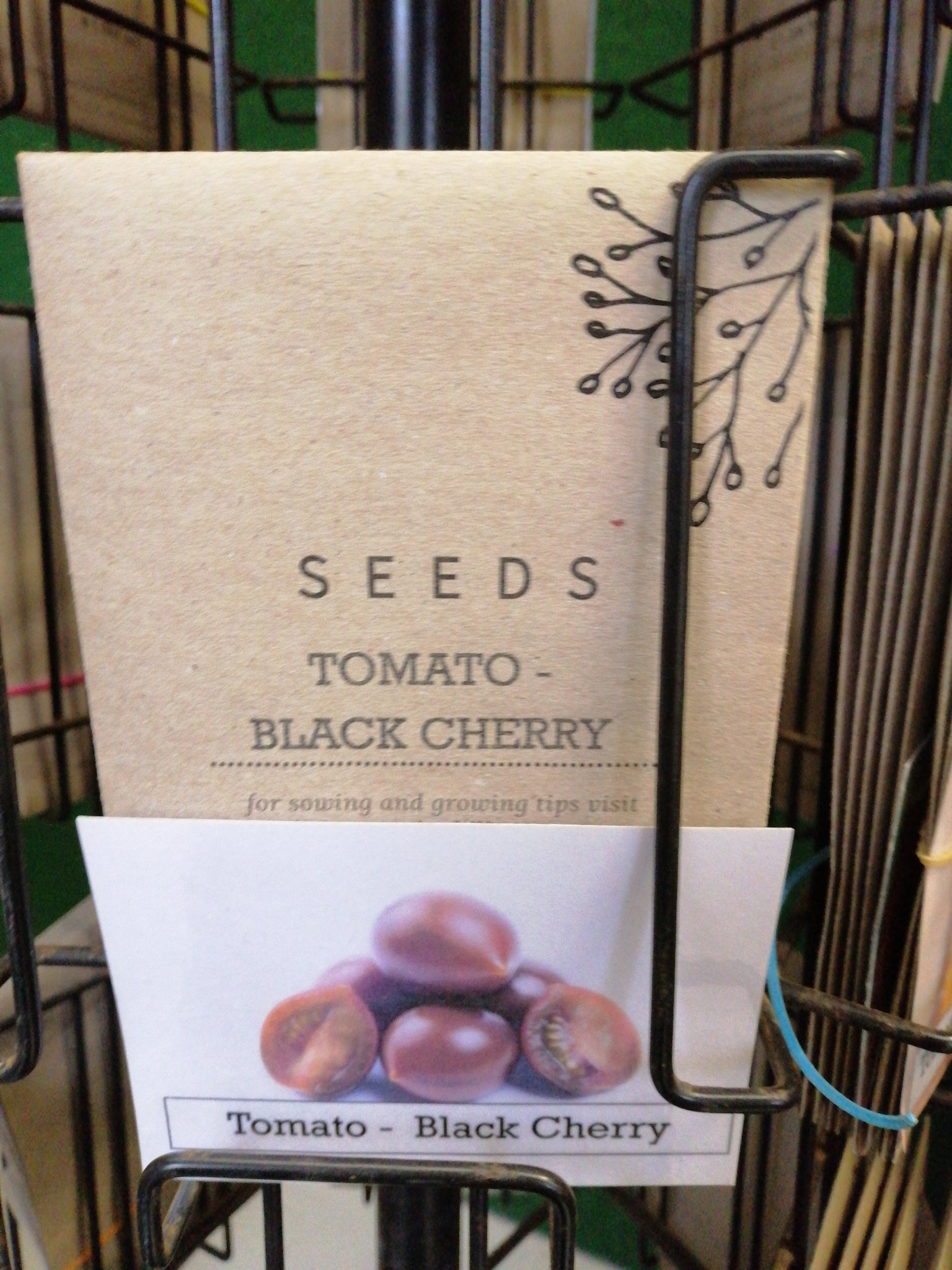 Tomato - Black cherry seed packet