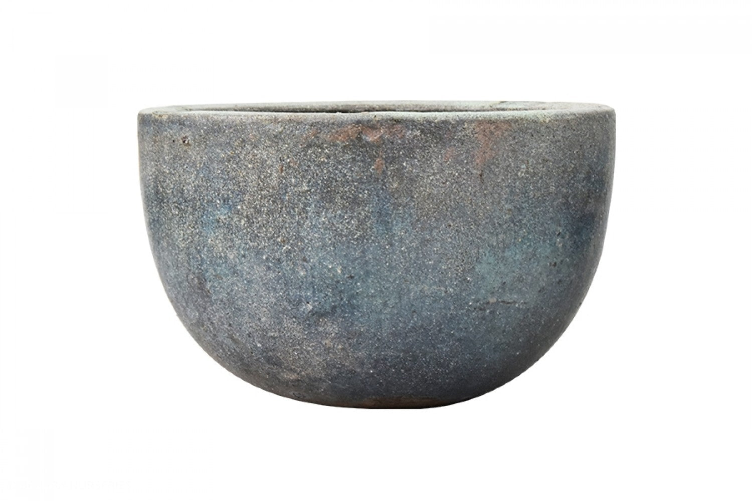 Sand Glazed Bowl Planter, Blue/Green D32 x H20