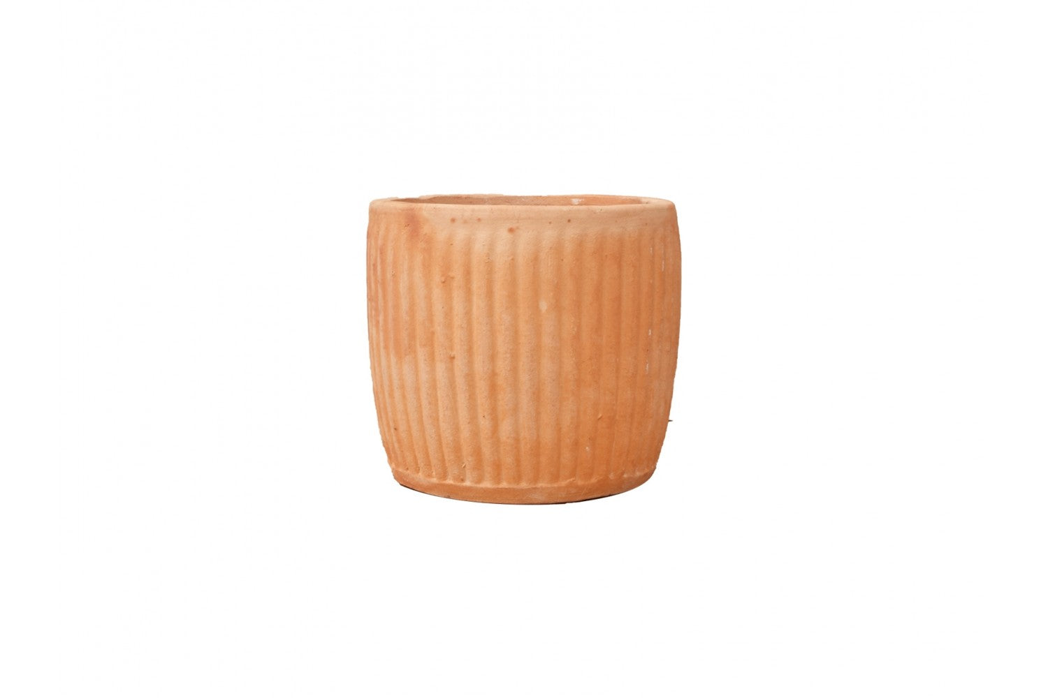 Round pot Striped, Terracotta