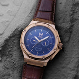 MSTR AM306SS Ambassador Moonphrase Rose Gold Blue Dial