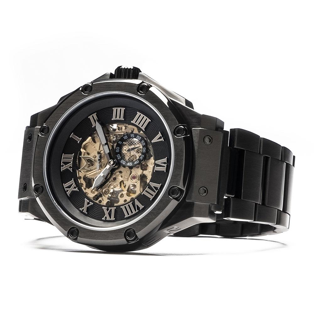MSTR AM302SS Ambassador Automatic Black Case Black Dial