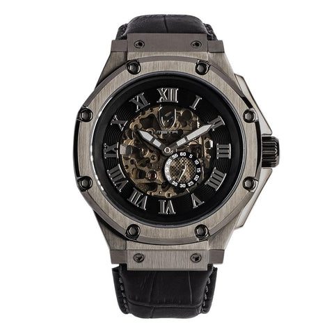 MSTR AM304CB Ambassador Automatic Titanium Grey Black Dial
