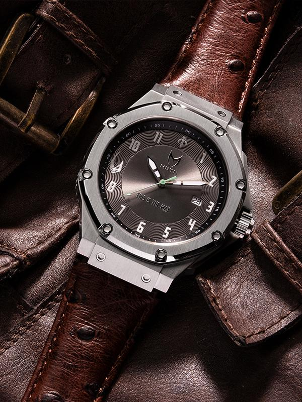 MSTR AM317LSW Automatic Mandalorian Leather Band
