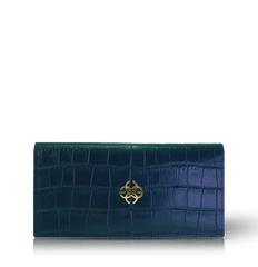 GC Continental Wallet Croco Embossed Leather