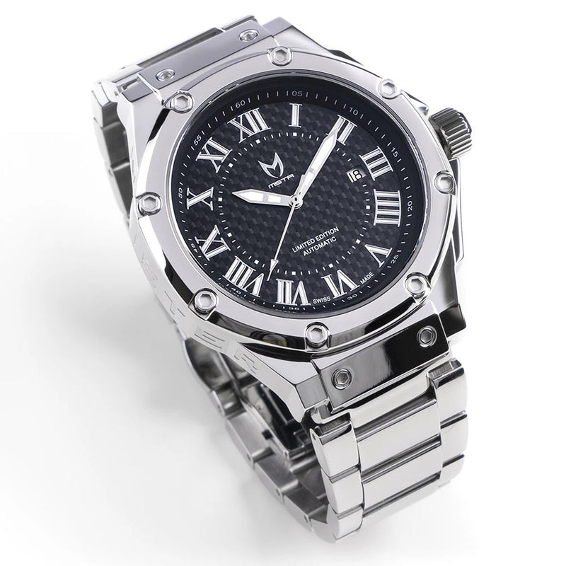 MSTR AM309SS Automatic Polished Silver SS Band