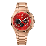 MSTR AM177SS Ambassador Rose Gold Red Dial