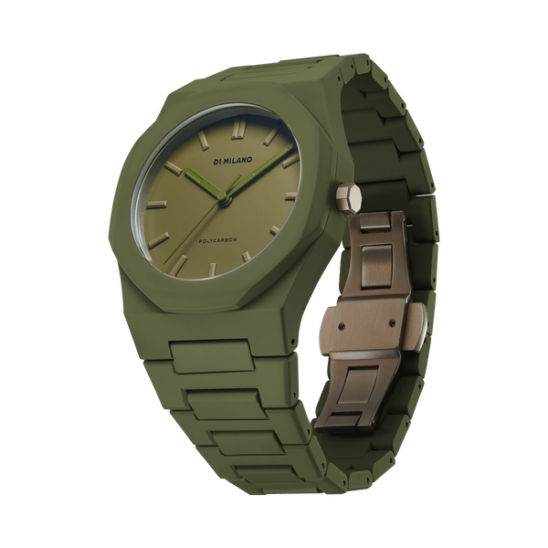 D1 MILANO PCBJ22 Military Green Polycarbonate 40.5mm