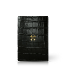 GC Passport Holder Croco Embossed Leather