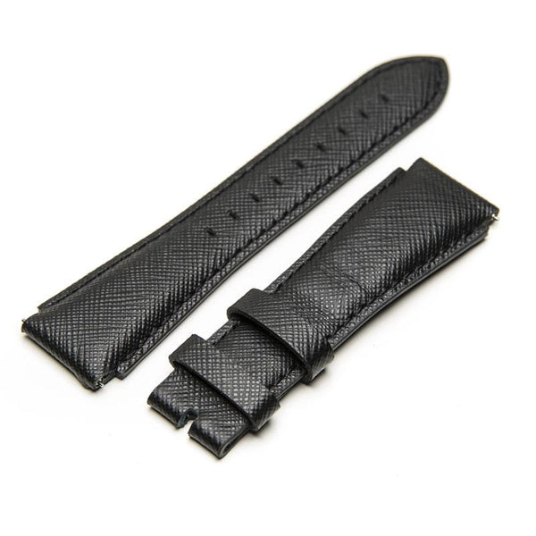 STR MSTR SB219SB Black Saffiano Leather Strap