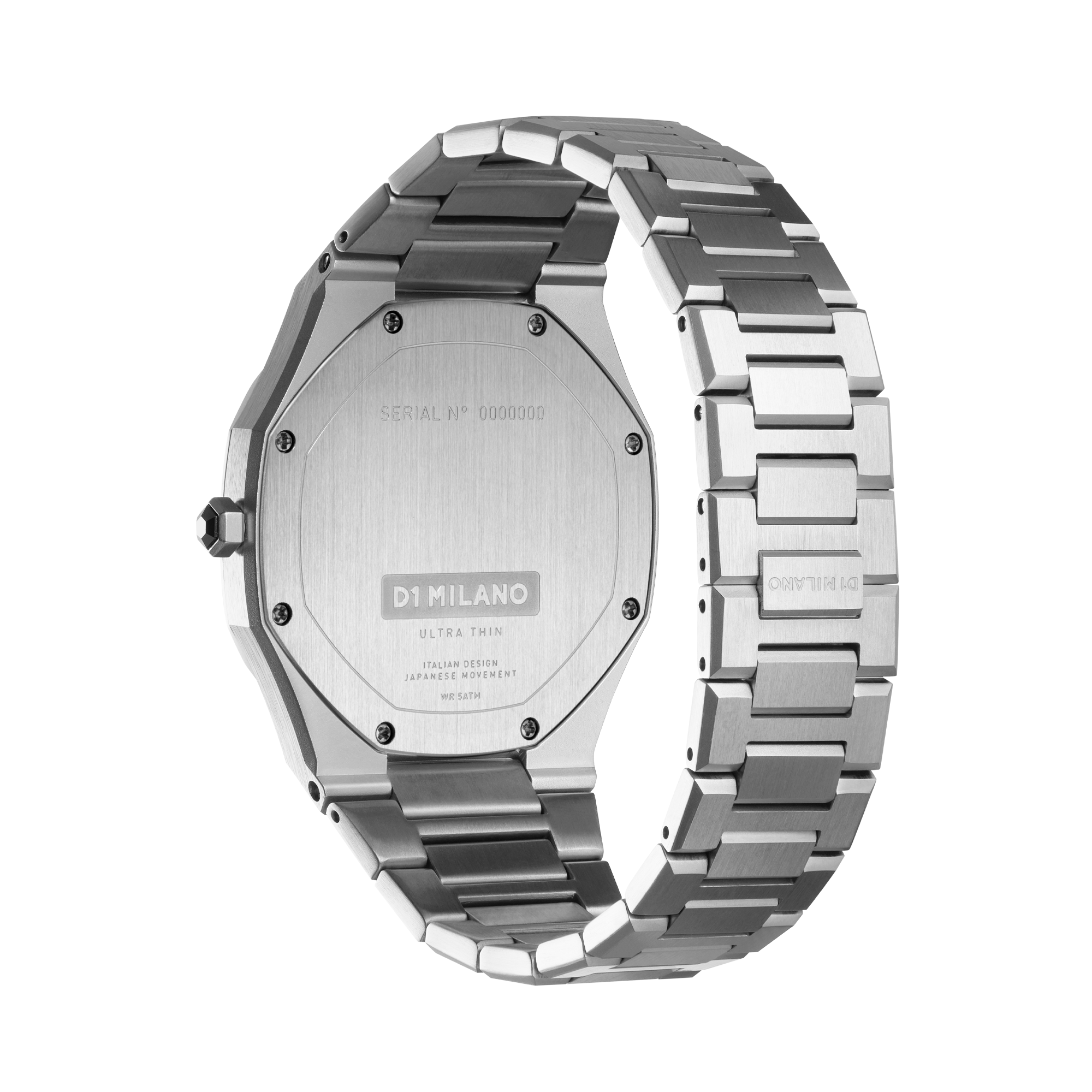 D1 MILANO UTBJ09 Geo Ultra Thin Bracelet 40mm