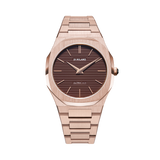 D1 MILANO UTBJ13 Champagne Brown Ultra Thin Bracelet 40mm