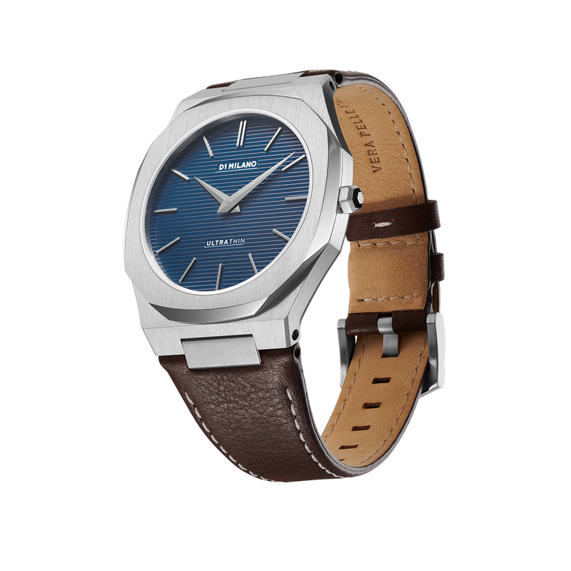 D1 MILANO UTLJ09 Espresso Blue Ultra Thin Bracelet 40mm