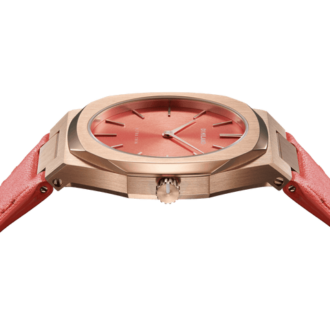 D1 MILANO UTLL11 Cherry Ultra Thin Leather 34mm