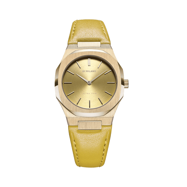 D1 MILANO UTLL12 Citron Ultra Thin Leather 34mm