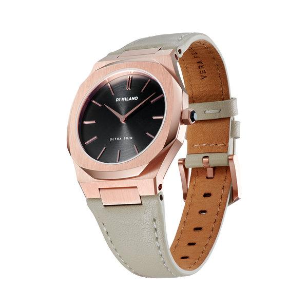 D1 MILANO UTLL14 Onix Ultra Thin Leather 34mm