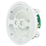 "TruAudio GPD-6 Ghost Series 6.5"" In-Ceiling Speaker with Dual Titanium Tweeters, White Poly Woofer"