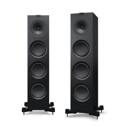 KEF Q750 Floorstanding Speakers Black/White with Grill