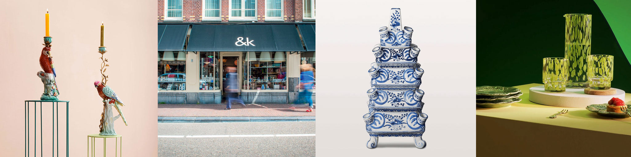 Leading UK stockist &Klevering. Quirky Dutch design brand &K Amsterdam. Klevering UK stockist. Plates, vases, candle holders and tableware from &K