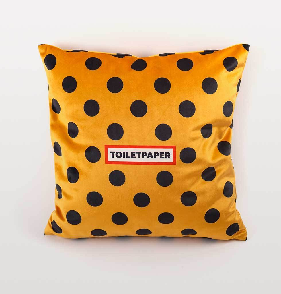 "W.A.GREEN | SELETTI ""TOILETPAPER"" SHIT CUSHION YELLOW MOUTH"