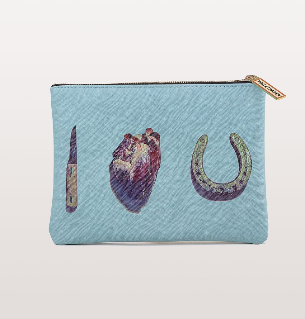 W.A.GREEN | SELETTI | Can you keep a secret Seletti I love you cosmetic pouch with knife heart horseshoe. £21 wagreen.co.uk