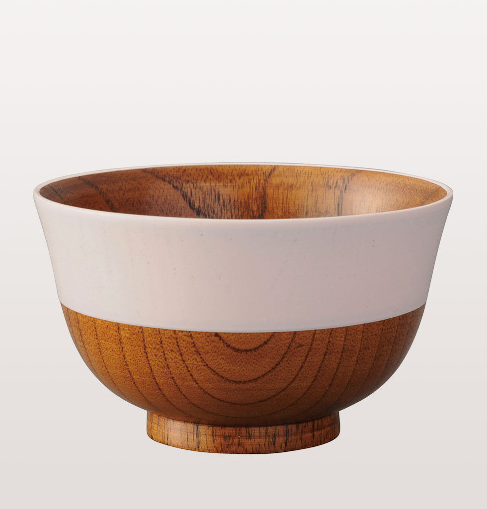 Japanese cherry blossom wooden soup bowl by Kawai. wagreen.co.uk