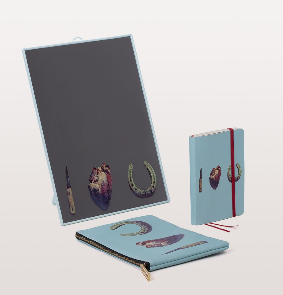 "W.A.GREEN | LOVE EDITION | MIRROR + NOTEBOOK + POUCH ""TOILETPAPER"""