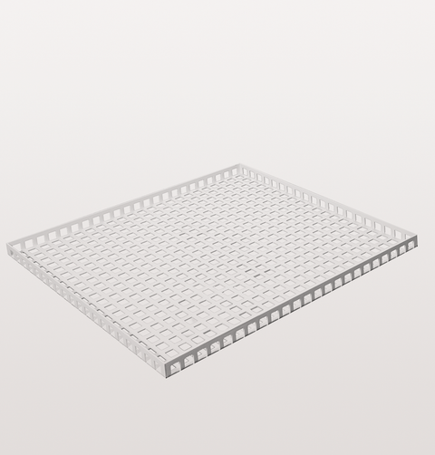WHITE SQUARE METAL DRINKS TRAY