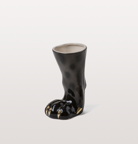 DIESEL LEOPARD PRINT FOOT VASE/DRINKING GLASS