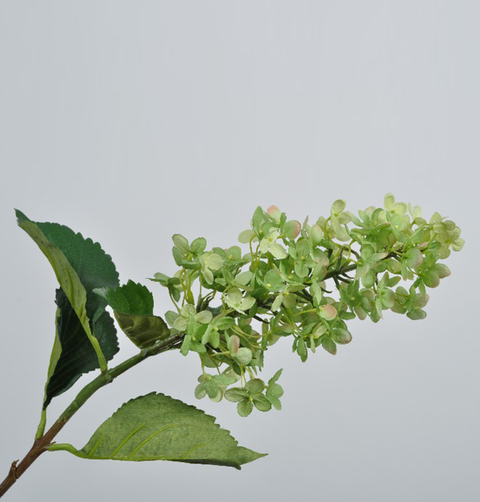 LARGE FAUX GREEN HYDRANGEA FLOWER STEM
