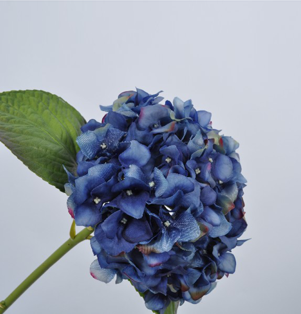 LUXURY FEEL REAL BLUE HYDRANGEA STEM