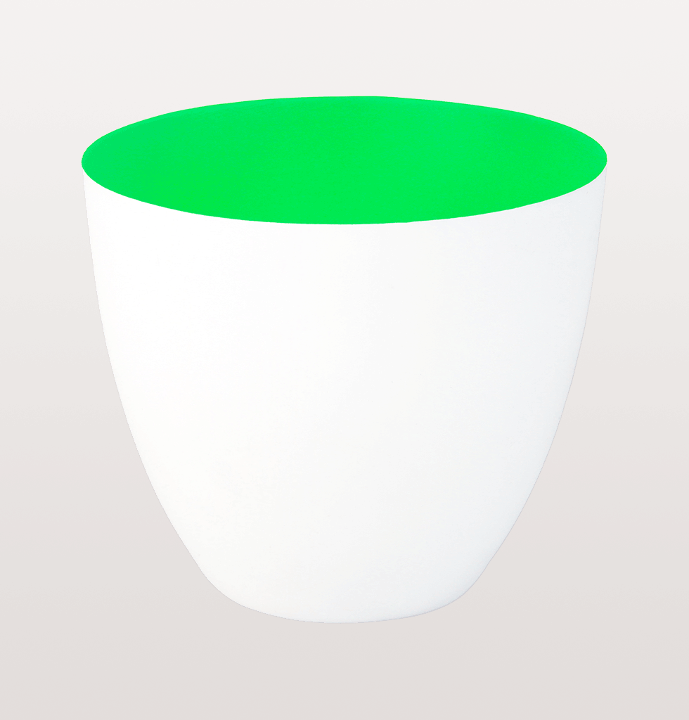 stylish tealight holder white porcelain with bright green