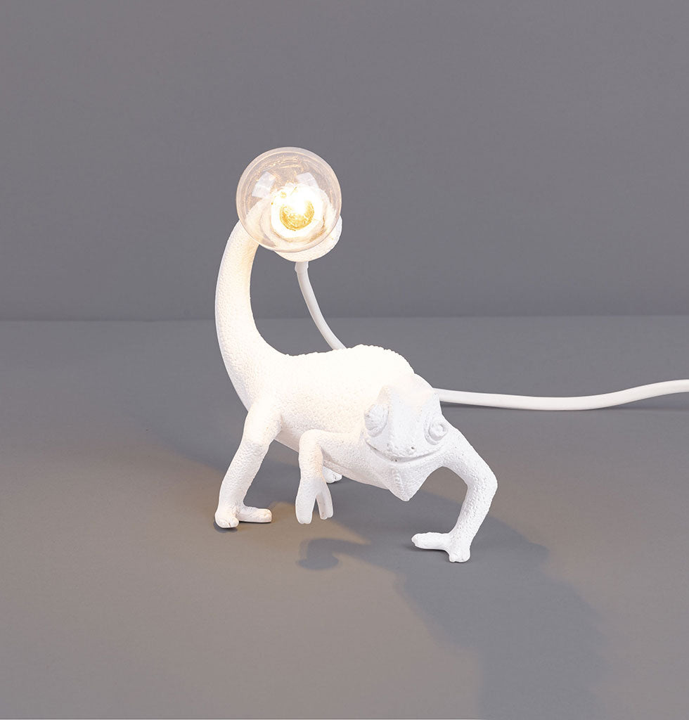 W.A.GREEN | SELETTI | WHITE CHAMELEON LIZARD STILL LAMP LIGHT. £90 wagreen.co.uk