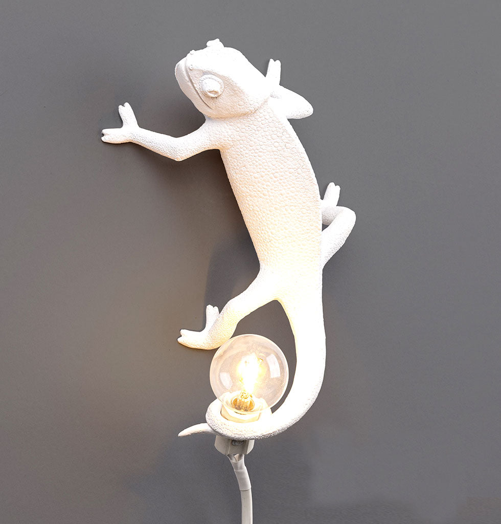 W.A.GREEN | SELETTI | WHITE CHAMELEON LIZARD LAMP LIGHT