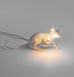 WHITE MOUSE TABLE LAMP