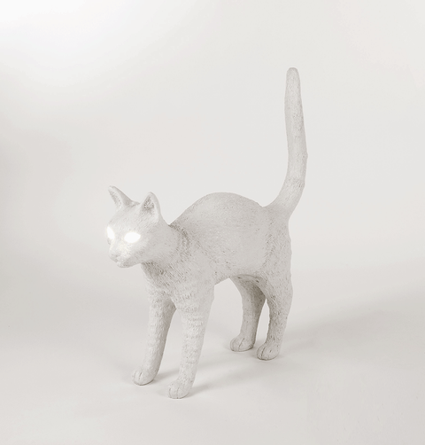 JOBBY THE CAT WHITE TABLE LAMP