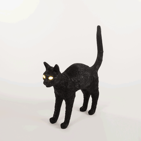 JOBBY THE CAT BLACK TABLE LAMP